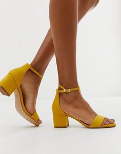 Желтые кожаные сандалии на каблуке ALDO Villarosa - Желтый