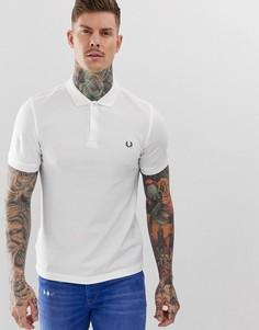 Белая футболка-поло из ткани пике с изображением венка на спине Fred Perry - Белый