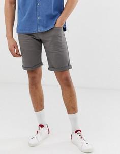 Серые облегающие джинсовые шорты Esprit - Серый
