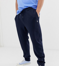 Темно-синие джоггеры с манжетами и логотипом Polo Ralph Lauren Big & Tall - Темно-синий