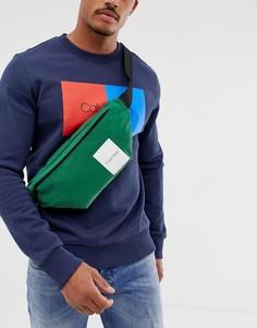 Calvin Klein Item Story logo bum bag in green - Зеленый