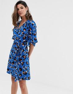 Синее платье мини с рукавами-кимоно Liquorish - Синий