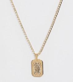 Позолоченное ожерелье с подвеской la luz Image Gang - Золотой