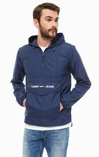 Ветровка Синяя ветровка-анорак с логотипом бренда Tommy Jeans