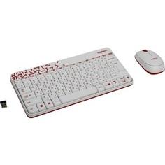 Комплект Logitech Combo MK 240 Nano White-red (920-008212)