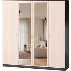 Шкаф комбинированный Гамма Лайт 160х60 венге+вяз с зеркалом