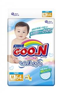 Подгузники Goo.N M 6-11кг 64шт 4902011751338 / 4902011856224 Goon.