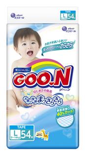 Подгузники Goo.N L 9-14кг 54шт 4902011751345 / 4902011856231 Goon.