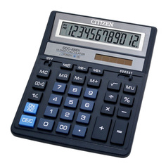 Калькулятор Citizen SDC-888XBL - двойное питание
