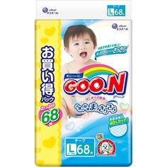 Подгузники Goo.N Ultra Jumbo Pack 9-14кг 68шт L 4902011751475 / 4902011855036 Goon.
