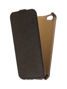 Аксессуар Чехол Snoogy для APPLE iPhone 6 / 6s иск. кожа Black SN-iPh-6/6s-BLK-LTH