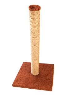 Когтеточка Царапка Столбик на подставке 29х29см