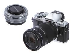 Фотоаппарат Olympus OM-D E-M10 Mark II Kit 14-42 mm Pancake + 40-150 mm R EZ Silver-Silver-Black