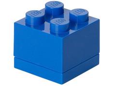 Пластиковый мини-кубик для хранения деталей Lego 4 Blue 40111731