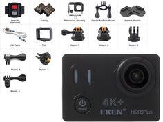 Экшн-камера EKEN H9R Plus Ultra HD Black