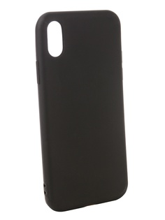 Аксессуар Чехол Zibelino для APPLE iPhone XS Soft Matte Black ZSM-APL-XS-BLK