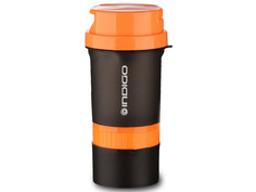 Шейкер Indigo Kivach IN015 400ml Black-Orange