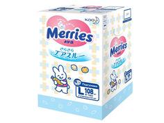 Подгузники Merries L 9-14кг 108шт 62020411