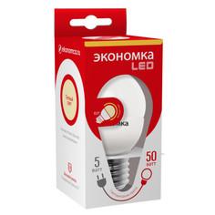 Лампочка Экономка Шарик E27 GL45 5W 230V 3000K Eco_LED5WGL45E2730