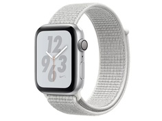 Умные часы APPLE Watch Nike+ Series 4 40mm Silver Aluminium Case with Summit White Nike Sport Loop MU7F2RU/A