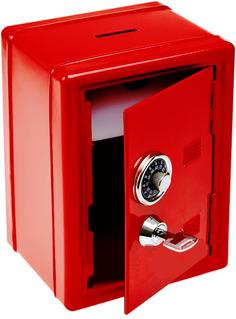 Копилка для денег Эврика Сейф с ключом Red 91647 Evrika
