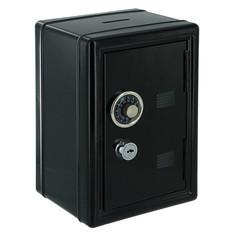 Копилка для денег Эврика Сейф с ключом Black 92831 Evrika
