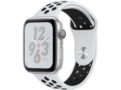 Умные часы APPLEWatch Nike+ Series4 40mm Silver Aluminium Case with Pure Platinum-Black Nike Sport Band MU6H2RU/A