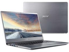Ноутбук Acer Swift SF314-56G-72E4 Silver NX.H4LER.002 (Intel Core i7-8565U 1.8 GHz/8192Mb/256Gb SSD/nVidia GeForce MX150 2048Mb/Wi-Fi/Bluetooth/Cam/14.0/1920x1080/Linux)