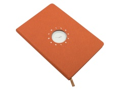 Блокнот Эврика с часами А5 Orange 99266 Evrika