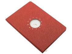 Блокнот Эврика с часами А5 Red 99264 Evrika