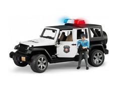 Игрушка Bruder Внедорожник Jeep Wrangler Unlimited Rubicon Полиция с фигуркой 02-526