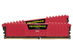 Модуль памяти Corsair Vengeance LPX Red DDR4 DIMM 2666MHz PC4-21300 CL16 - 8Gb KIT (2x4Gb) CMK8GX4M2A2666C16R