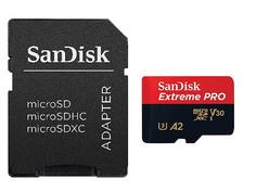 Карта памяти 64Gb - SanDisk MicroSD Extreme Pro Class 10 SDSQXCY-064G-GN6MA с переходником под SD