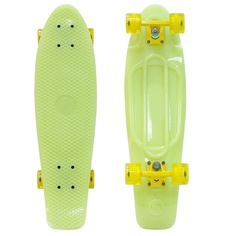 Скейт Y-Scoo Big Fishskateboard Glow 27 Yellow-Yellow 402E-Y