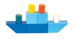 Кубики Alatoys Городок, окрашенный 23 дет. К1601