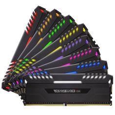 Модуль памяти Corsair Vengeance RGB DDR4 DIMM 2666MHz PC4-21300 CL16 - 64Gb KIT (8x8Gb) CMR64GX4M8A2666C16