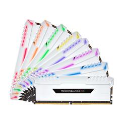 Модуль памяти Corsair Vengeance RGB White DDR4 DIMM 3000MHz PC4-24000 CL16 - 128Gb KIT (8x16Gb) CMR128GX4M8C3000C16W