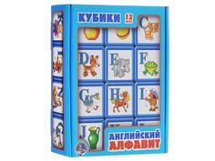 Кубики Десятое Королевство Английский алфавит 12 шт. 00351