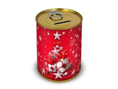 Копилка для денег Canned Money С Новым годом и Исполнения желаний 410220