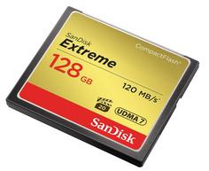 Карта памяти 128Gb - SanDisk Extreme CF 120MB/s - Compact Flash SDCFXSB-128G-G46