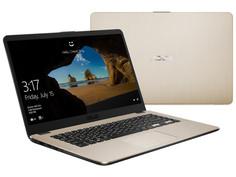 Ноутбук ASUS VivoBook X505ZA-BQ071T Gold 90NB0I18-M06220 (AMD Ryzen 5 2500U 2.0 GHz/8192Mb/1000Gb/AMD Radeon Vega 8/Wi-Fi/Bluetooth/Cam/15.6/1920x1080/Windows 10 Home 64-bit)