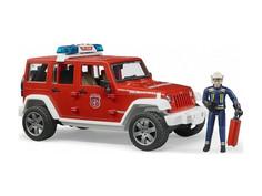 Игрушка Bruder Внедорожник Jeep Wrangler Unlimited Rubicon Пожарная с фигуркой 02-528