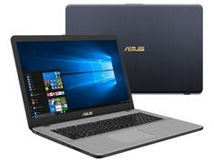 Ноутбук ASUS N705UN-GC159T 90NB0GV1-M02240 Grey (Intel Core i5-8250U 1.6 GHz/6144Mb/1000Gb/No ODD/nVidia GeForce MX150 2048Mb/Wi-Fi/Bluetooth/Cam/17.3/1920x1080/Windows 10 64-bit)
