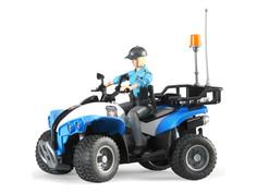 Игрушка Bruder Полицейский квадроцикл с фигуркой 63-010