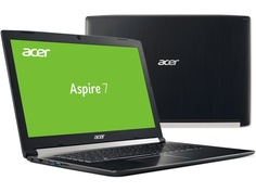 Ноутбук Acer Aspire A717-72G-5448 Black NH.GXEER.012 (Intel Core i5-8300H 2.3 GHz/8192Mb/1000Gb+128Gb SSD/nVidia GeForce GTX 1060 6144Mb/Wi-Fi/Bluetooth/Cam/17.3/1920x1080/Windows 10 Home 64-bit)