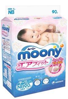 Подгузники Moony NB 0-5кг 90шт 4903111243785