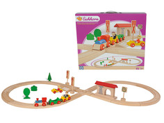 Игрушка Eichhorn Поезд с колеей и фигурками, 1202
