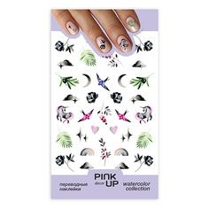 Наклейки для ногтей PINK UP DECOR WATERCOLOR переводные тон 630
