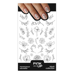 Наклейки для ногтей PINK UP DECOR BLACK переводные тон 642