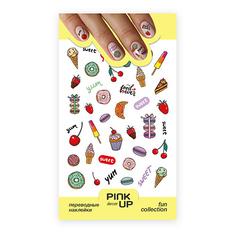 Наклейки для ногтей PINK UP DECOR FUN переводные тон 636